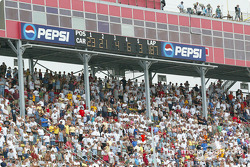 Michigan International Speedway scoreboard