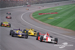 Airton Daré, Helio Castroneves and Sam Hornish Jr.