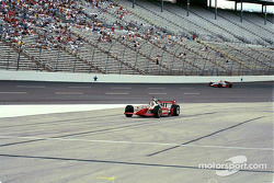 Al Unser Jr. coasts on pitlane