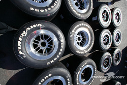 Firestone tires lined up