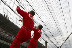 Gil de Ferran and Helio Castroneves: two Spidermen for the price of one
