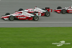 Scott Dixon, Tomas Scheckter and Al Unser Jr.