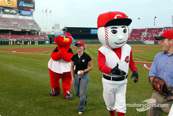 Visit at a Cincinnati Reds baseball game: Sarah Fisher