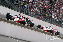 Row 2: Dan Wheldon, Kenny Brack and Scott Dixon