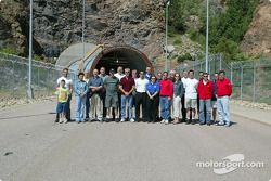 IndyCar drivers and guests outside of NORAD, Colorado Springs, Colorado