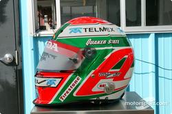 Adrian Fernandez' helmet