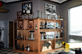 Trophy cabinet at Panther Racing