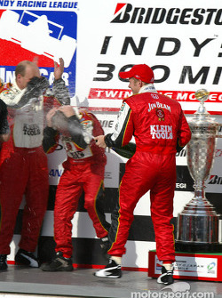 Champagne for Dan Wheldon