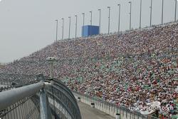 Kansas spectators taking their seats before the race