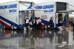 IRL transporters under the rain