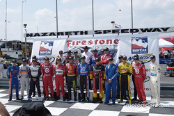 Starting field for the Firestone Indy 225