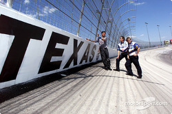 Patrick Carpentier visiting the Texas Motor Speedway