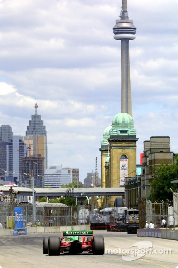 Adrian Fernandez with Downtown Toronto and the CN Tower in background