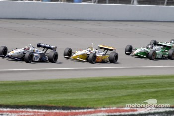 Max Papis, Kenny Brack and Dario Franchitti