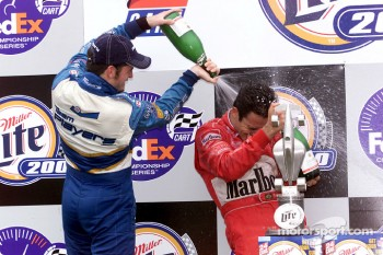 Champagne for Patrick Carpentier and Helio Castroneves
