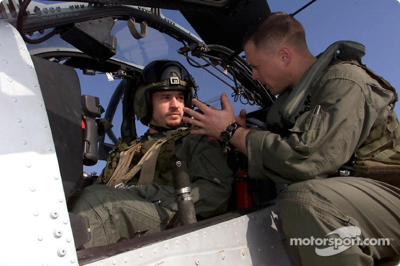Patrick Carpentier with Captain Aaron Marx