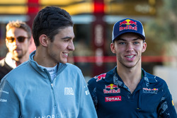 (L to R): Esteban Ocon, Manor Racing with Pierre Gasly, Red Bull Racing Third Driver