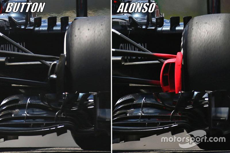 McLaren MP4-31: Vorderachse