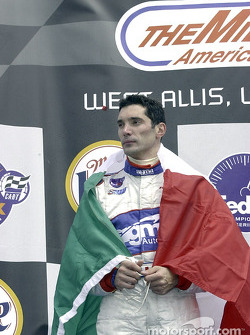 The podium: Max Papis