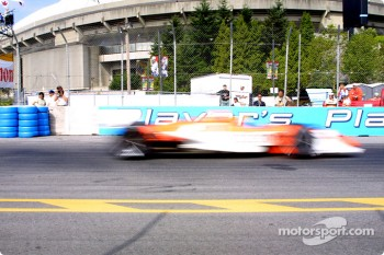 Oriol Servia in a motion blur