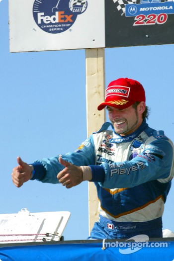 The podium: Alex Tagliani