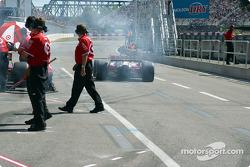 Pit activity at Ganassi Racing
