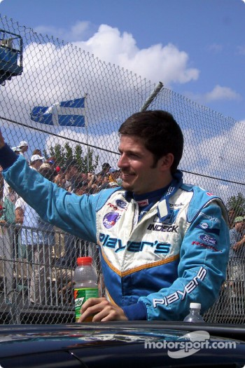 Drivers' parade: Patrick Carpentier
