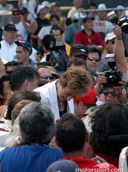 Cristiano da Matta's mom celebrates