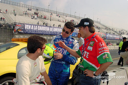 Christian Fittipaldi, Dario Franchitti and Adrian Fernandez