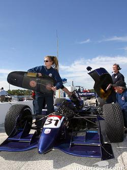 American Spirit Team Johansson pit area