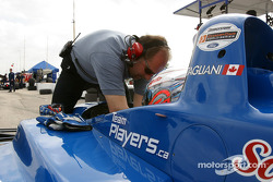 Alex Tagliani gets ready for the morning session
