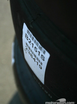 Detail of a Bridgestone tire