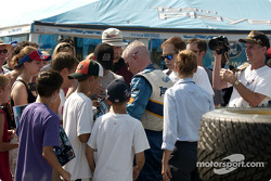 Paul Tracy signs autographs