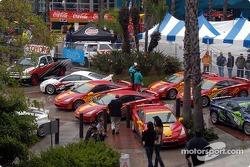 Pro cars in Pro Celeb paddock