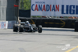 Champ Car 2-seater experience: Paul Tracy spins the car at turn one with Bell's Duncan Stauch on board
