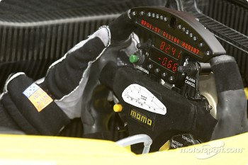 Steering wheel of A.J. Allmendinger