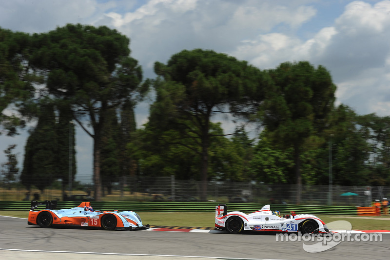 #41 Greaves Motorsport Zytek Nissan: Karim Ojjeh, Tom Kimber-Smith, Olivier Lombard, #15 Oak Racing Oak Pescarolo - Judd: Guillaume Moreau, Pierre Ragues