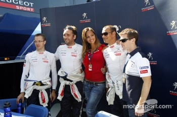 Sbastien Bourdais, Franck Montagny, Stphane Sarrazin and Anthony Davidson