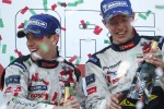 LMP1 podium: race winner Anthony Davidson and Sébastien Bourdais