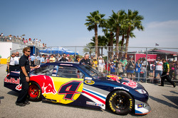 Car of Kasey Kahne, Red Bull Racing Team Toyota at technical inspection