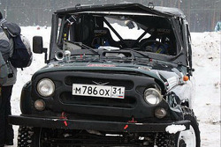 What an UAZ looks like after rolling 4 times