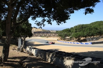 Grand-Am cars run laps at a test session at Mazda Raceway Laguna Seca