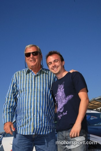 Golf great Fuzzy Zoeller and actor-racer Frankie Muniz