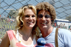 Christina Surer, girlfried of Martin Tomczyk, Audi Sport Team Phoenix Audi A4 DTM with Atze Schroeder, comedian