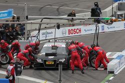 Pitstop of Edoardo Mortara, Audi Sport Team Rosberg, Audi A4 DTM
