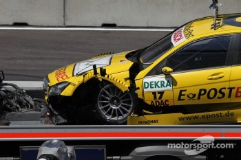 Big crash for Coulthard today