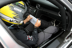 Nico Rosberg, Mercedes GP is the co-driver of Michael Schumacher, Mercedes GP