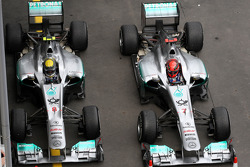 Nico Rosberg, Mercedes GP F1 Team, Michael Schumacher, Mercedes GP F1 Team