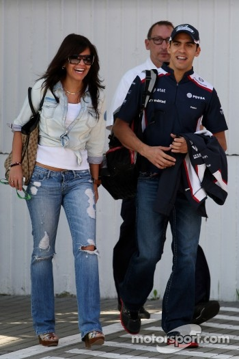 Gabriella Tarkany, the girlfriend of Pastor Maldonado, AT&T Williams and Pastor Maldonado, AT&T Williams