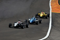 Kevin Magnussen leads carlos Huertas and Felipe Nasr